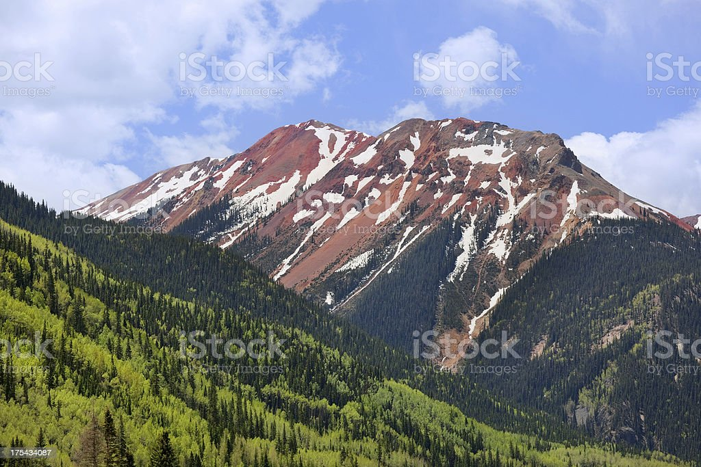 rocky mountain landscape stock photo