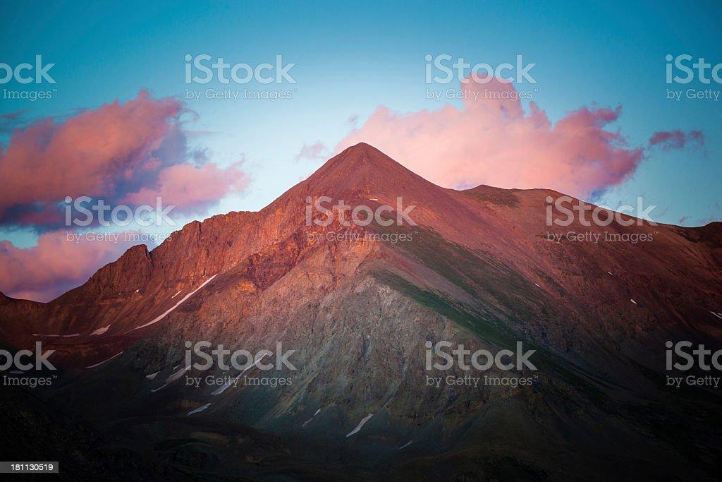 rocky mountain landscape sunset royalty-free stock photo