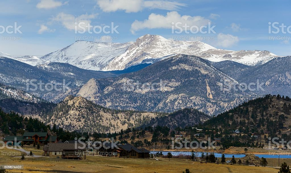 Rocky Mountain Living, Estes Park stock photo
