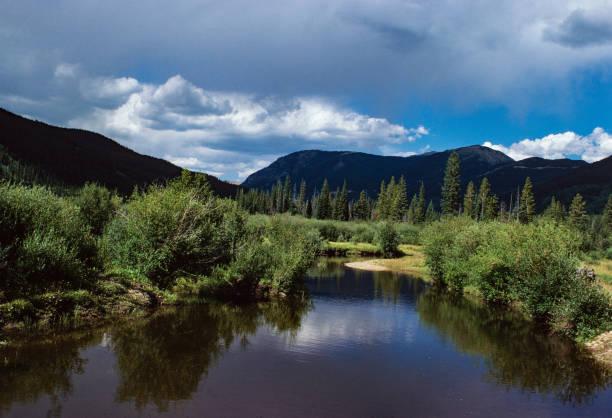 Rocky Mountain National Park - Colorado River - 1977 stock photo
