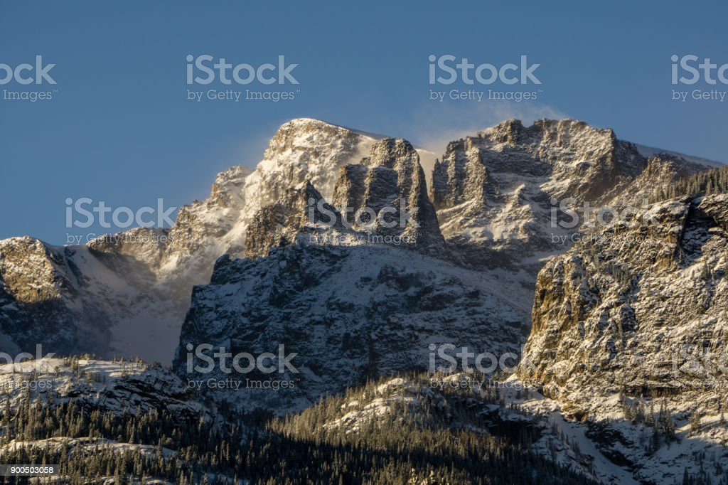 Rocky Mountain National Park in Winter stock photo