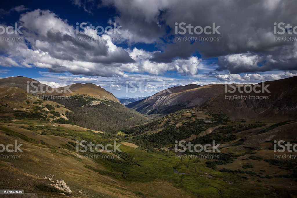 Rocky Mountain National Park Landscape stock photo