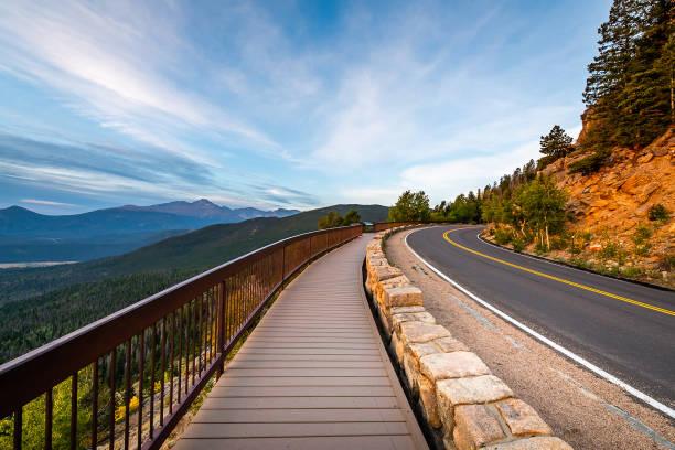 rocky mountain national park - estes park foto e immagini stock