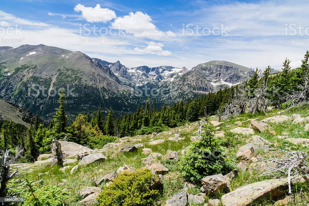 Rocky Mountain National Park Scenic View stock photo