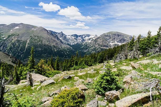 rocky mountain national park scenic view - estes park foto e immagini stock