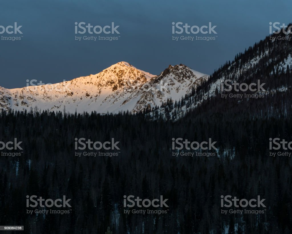 Rocky Mountain National Park Sunrise stock photo