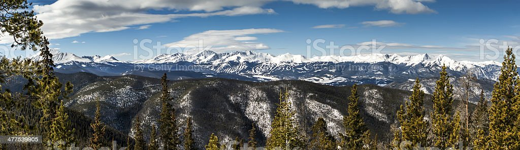 Rocky Mountain Panorama stock photo