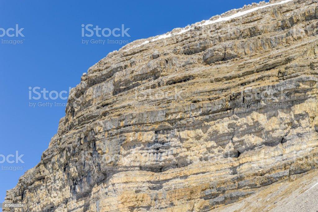 Rocky mountain peak of Dolomites Alps near Madonna di Campiglio royalty-free stock photo