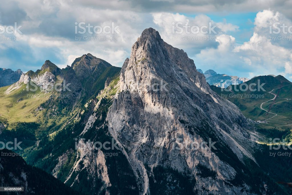 Rocky mountain peak stock photo