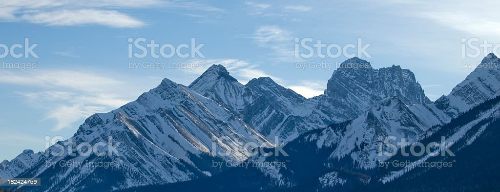 Rocky Mountain Peeks with sun and cloud royalty-free stock photo