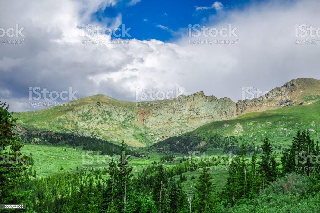Rocky Mountain Ridge stock photo