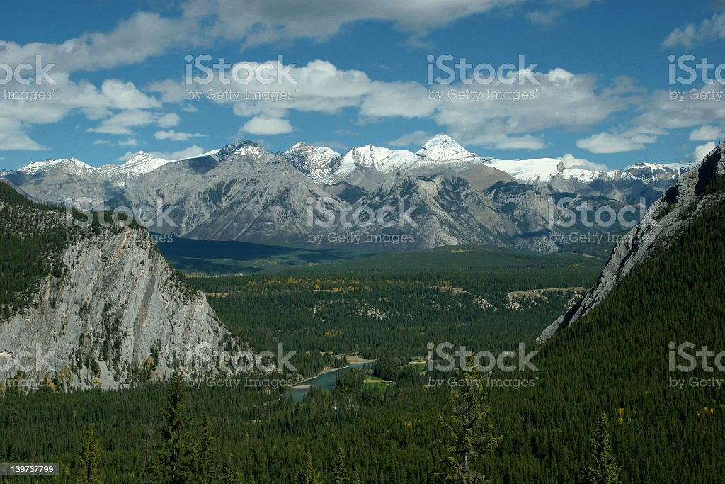 Rocky Mountain River Valley royalty-free stock photo