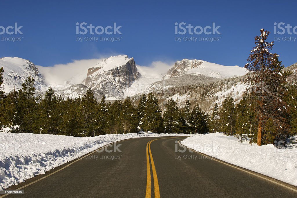 Rocky Mountain Road stock photo