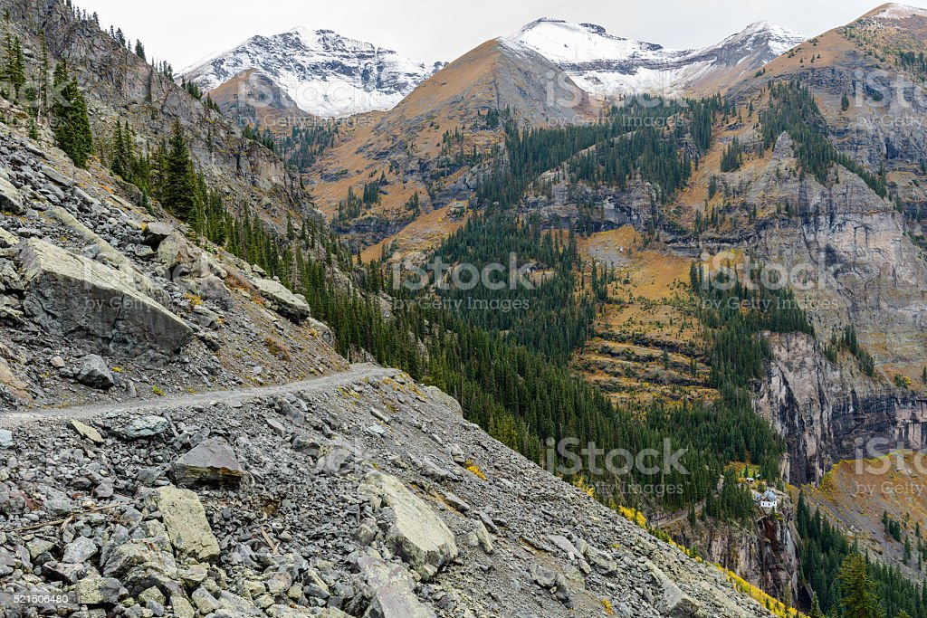 Rocky Mountain Road stock photo