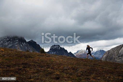 istock Rocky Mountain Runner Girl 503131882
