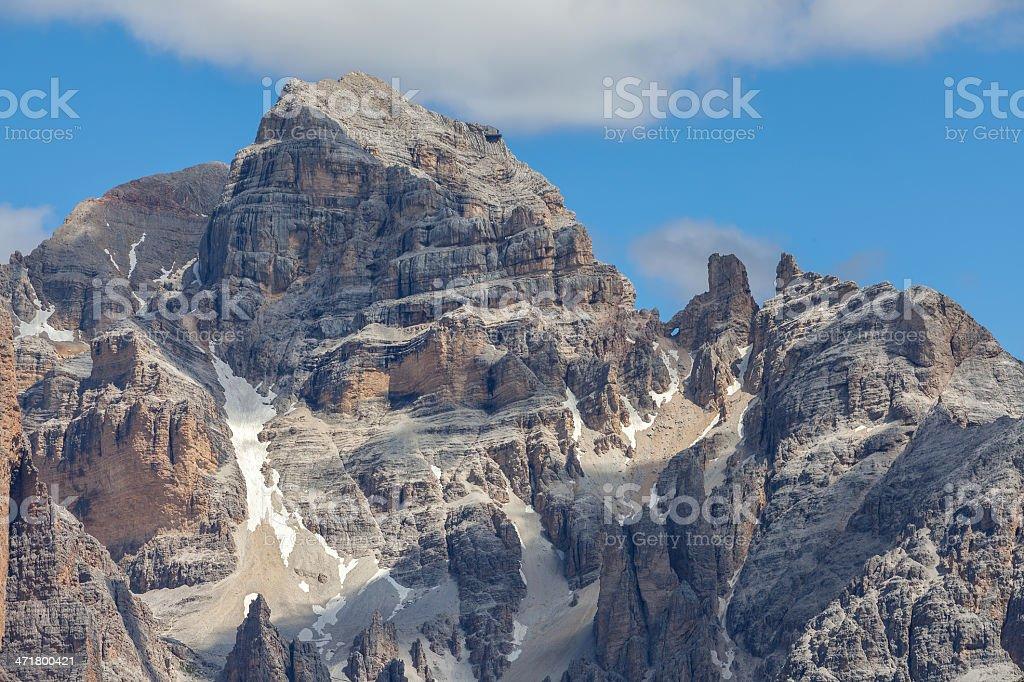 Rocky mountain scenery, Dolomites, Italy royalty-free stock photo