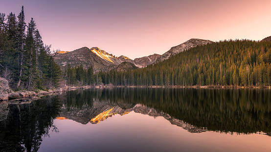 rocky mountain state park lake reflections
