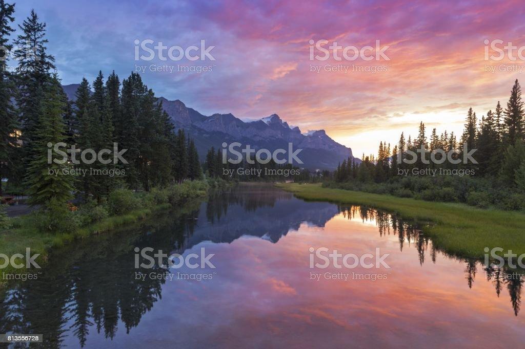 Rocky Mountain Sunset stock photo