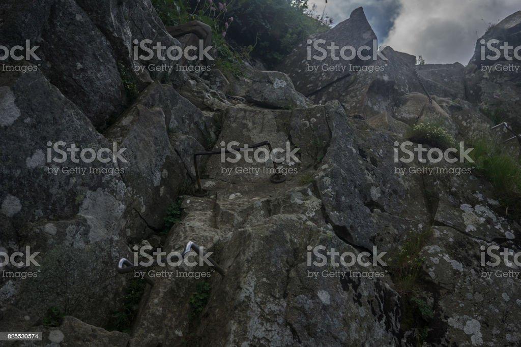 rocky mountain track stock photo