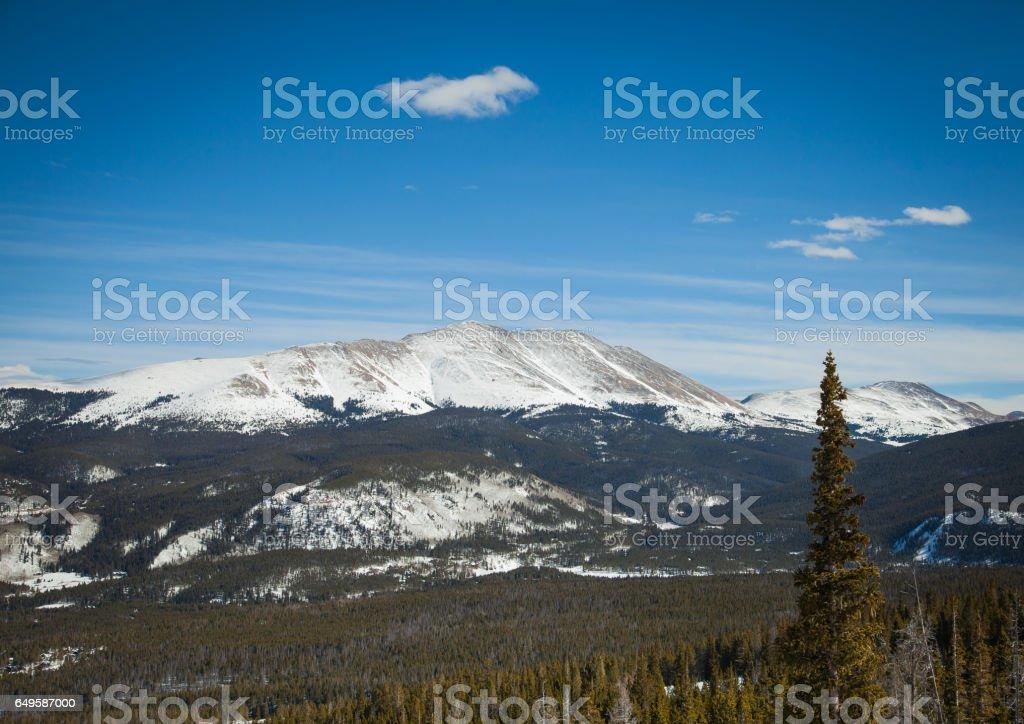 Rocky mountain view stock photo