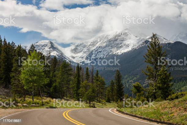 Photo of Rocky mountains and Road