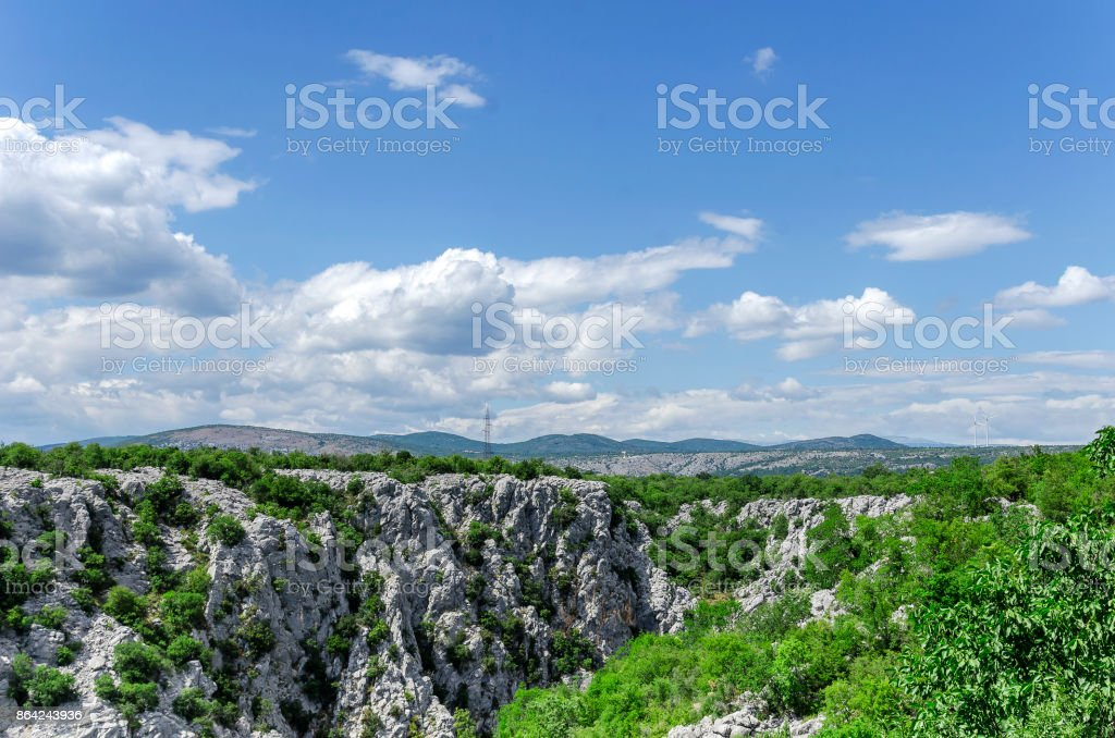Rocky mountains and sky. royalty-free stock photo
