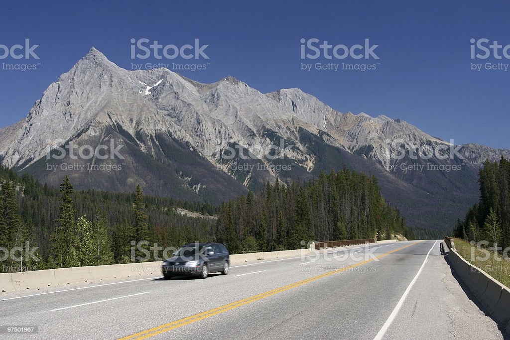 Rocky Mountains in Canada royalty-free stock photo