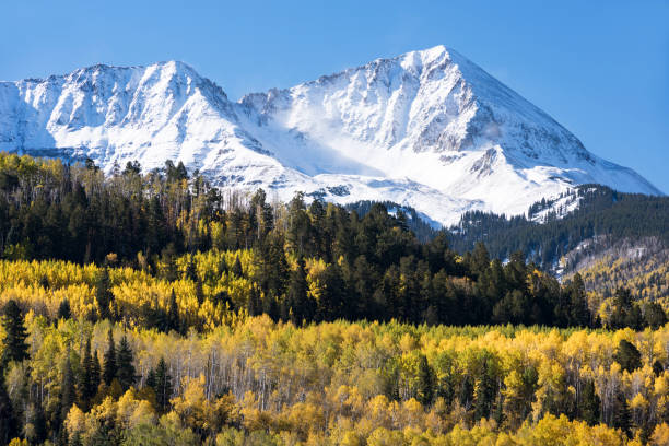 Rocky Mountains in South Western Colorado in the early Autumn. stock photo