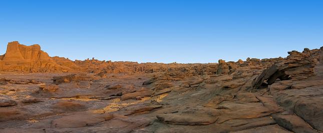 Hoggar rocks in the Sahara desert