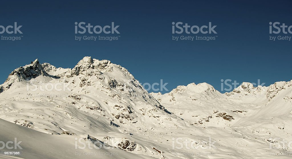 Montagne Rocciose in inverno foto stock royalty-free