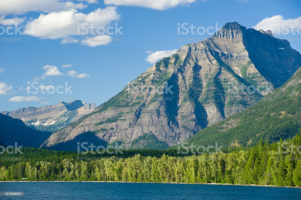 Rocky Mountains Lake Macdonald royalty-free stock photo