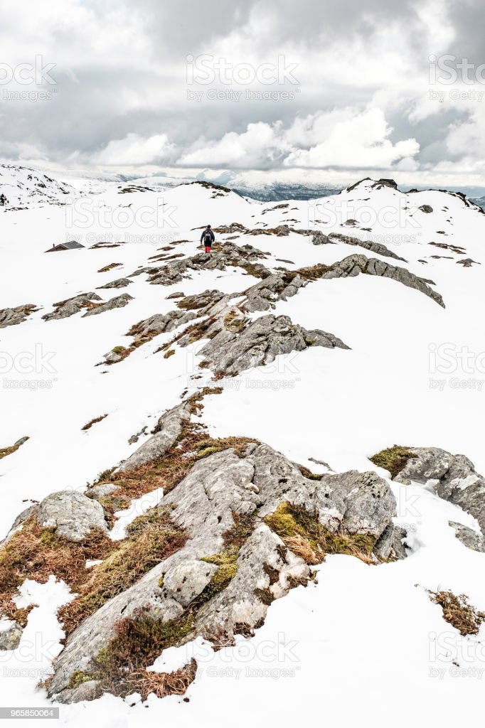 Rocky Mountaintop On A Snowy Day - Royalty-free Ao Ar Livre Foto de stock