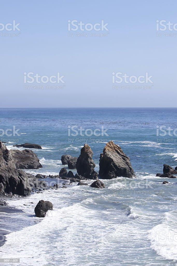 Rocky Northern California coastline royalty-free stock photo
