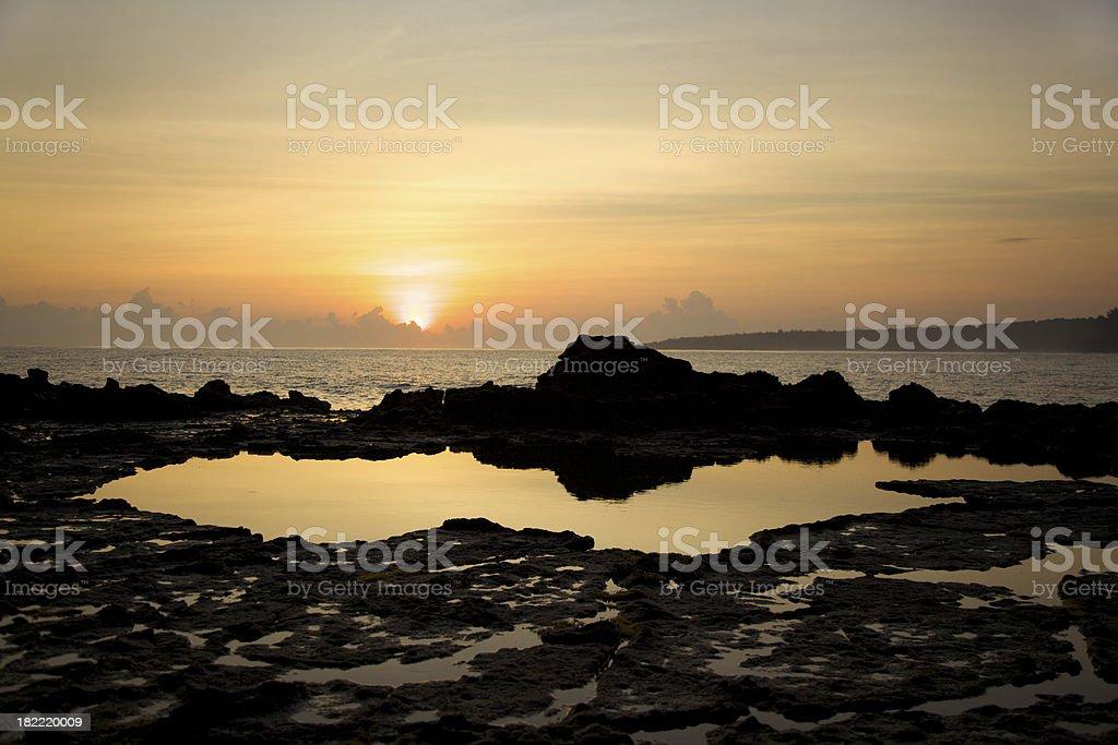 Rocky Ocean Sunrise stock photo
