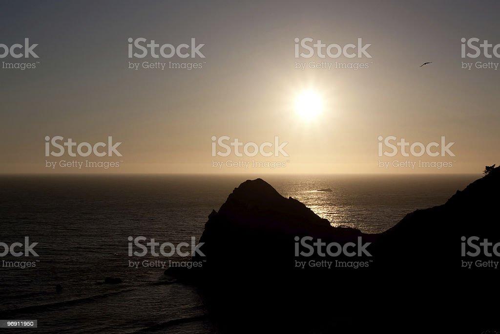 Rocky Oregon coastline at sunset royalty-free stock photo
