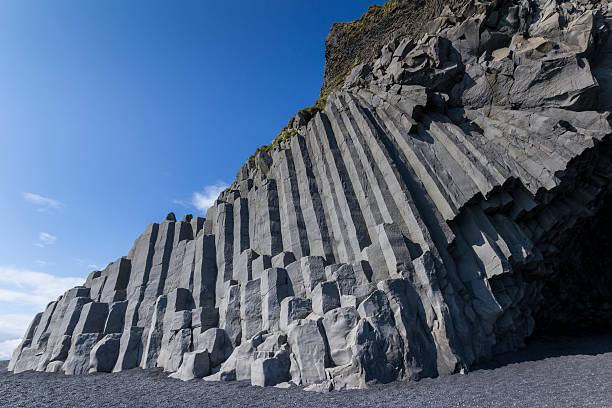 Rocky outcrop in Iceland stock photo