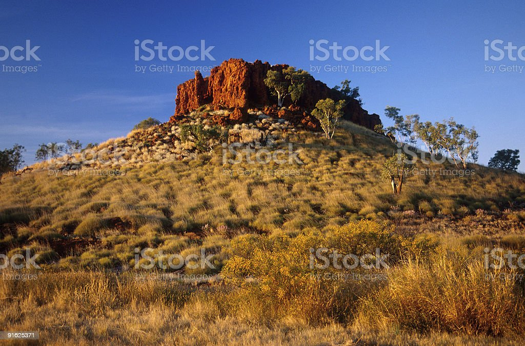 Rocky outcrop in the Outback royalty-free stock photo