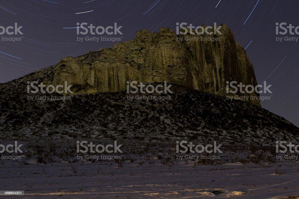 rocky outcrop royalty-free stock photo