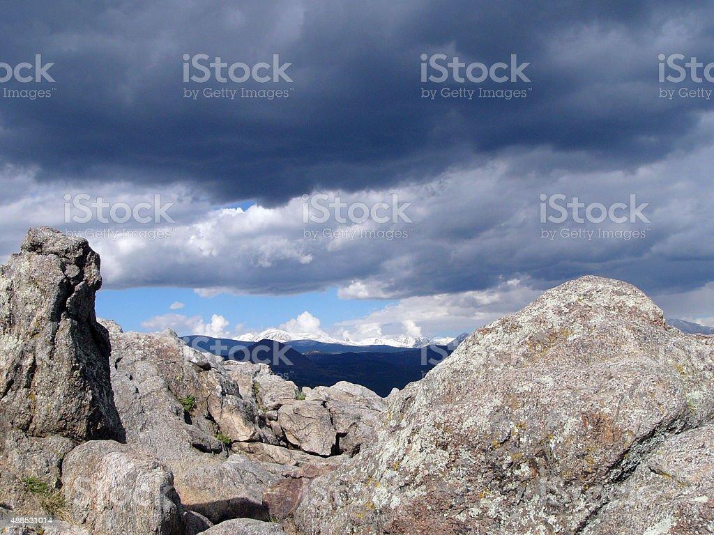Rocky overlook stock photo