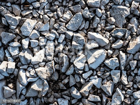 Perspective View On The Rocky Pebble Surface, Stone Background. OLYMPUS DIGITAL CAMERA