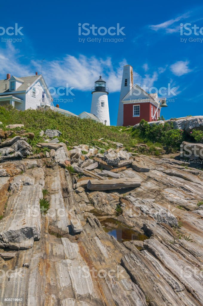 Rocky Pemaquid Headlands stock photo