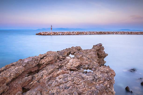 Rocky pier in Griechenland – Foto
