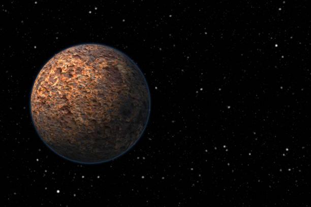 Rocky planet stock photo