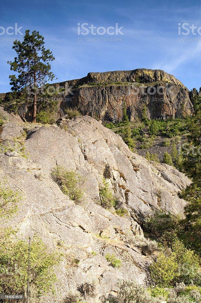Rocky Ridge Outcroppings Near Banks Lake Washington State royalty-free stock photo