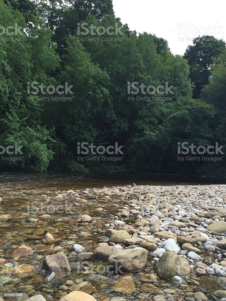 Rocky river view stock photo