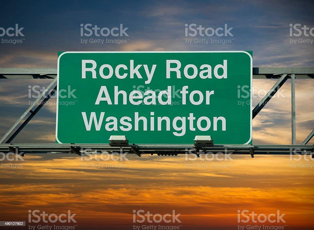Rocky Road Ahead stock photo