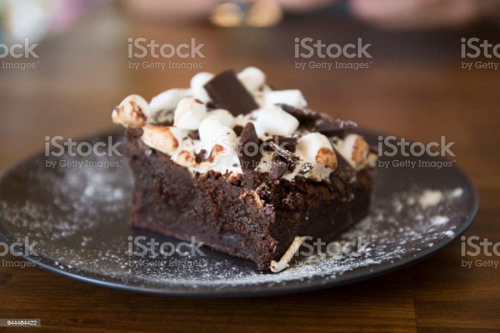 Rocky Road Brownie stock photo