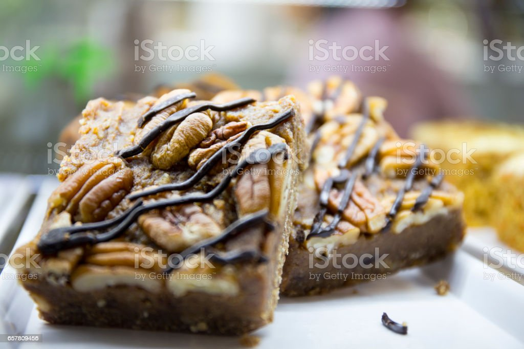 Rocky road cake stock photo