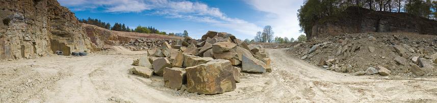 Large scale gypsum mining.