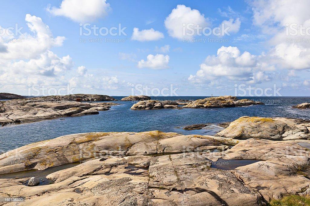 Rocky sea archipelago stock photo